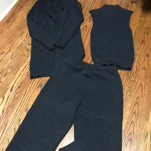 3-piece merino wool pantset